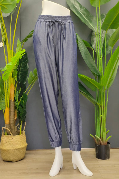Nica Jogger Pants in Navy Blue