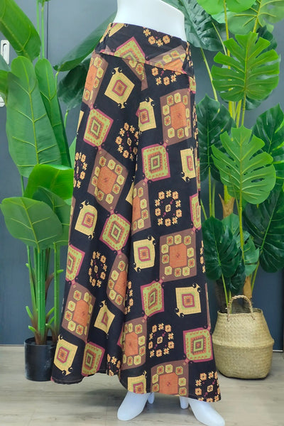 Solen Square Pants in Printed Brown