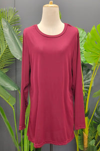 Amalia Top in Maroon