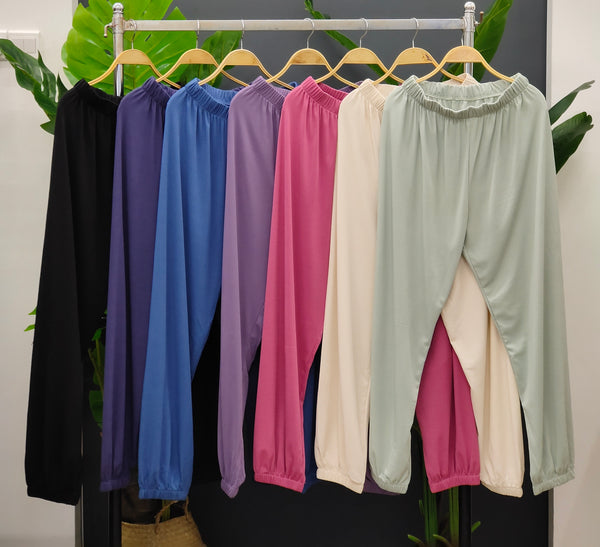 Janella Jogger Pants in Mint Green