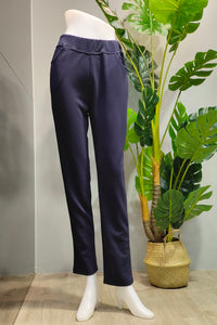 Kamila Pull-On Pants in Navy Blue