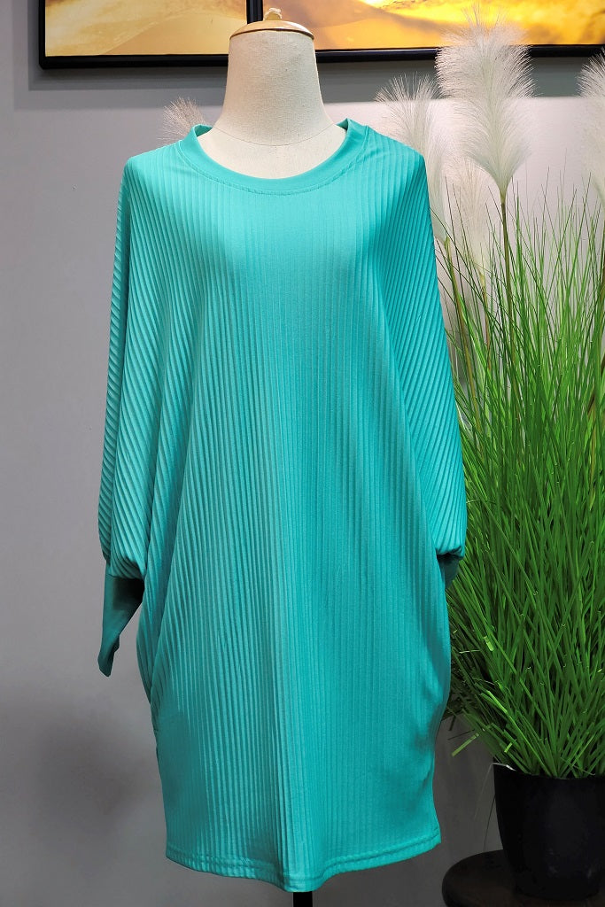 Valerie Pleated Batwing in Tiffany