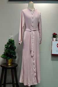 Reese Pleated Dress in Pink