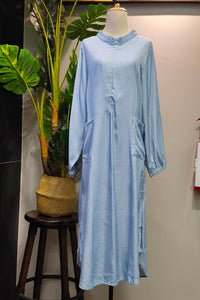 Asela Denim Tunic in Light Blue