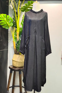 Asela Denim Tunic in Black