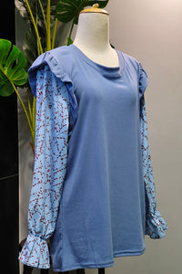 Agatha Top in Blue