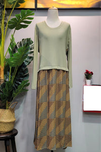 Rina Plus Size Dress in Green