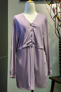 Carissa Mid Button Top in Periwinkle