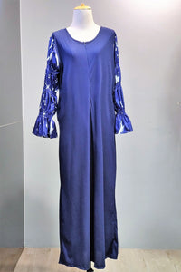 Jilian Puff Sleeve Dres in Navy Blue