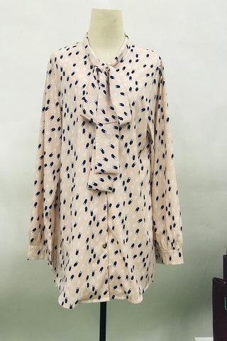 Ana Button Down Printed Top in Light Pink