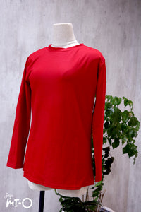 Sheila Basic Top in Red - Saja Mi-O