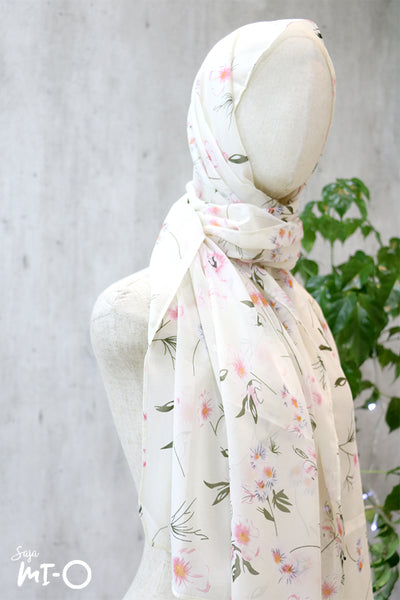 Kyda Headscarf In Pink & White