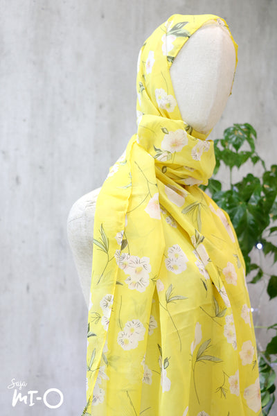 Kyda Headscarf In Lemon Yellow - Saja Mi-O