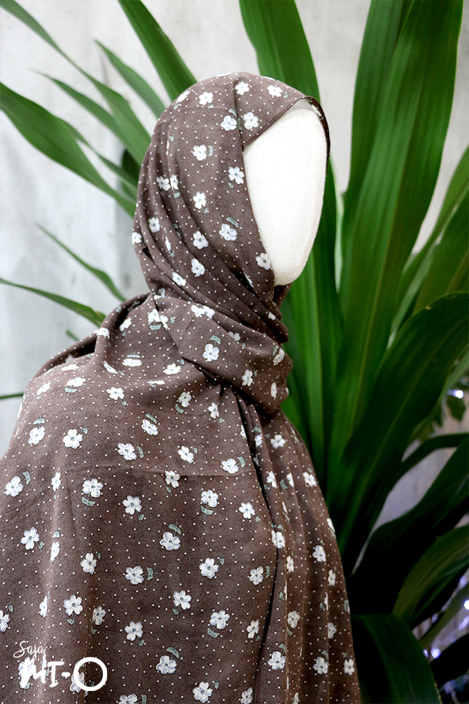 Isha Daisy n Dots Headscarf in Brown