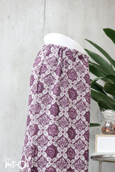 Edyn Geometric Print Long Skirt in Lilac - Saja Mi-O