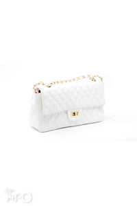 Atya Quilted Bag in Ivory - Saja Mi-O