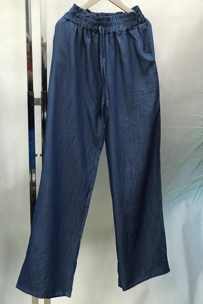 Ulla Casual Flare Pants in Blue