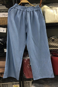 Ulla Casual Flare Pants in Light Blue