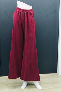 Alodia Wide Leg Pants in Burgundy