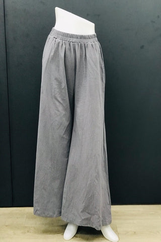 Alodia Wide Leg Pants in Grey