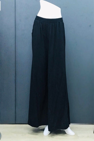 Alodia Wide Leg Pants in Black