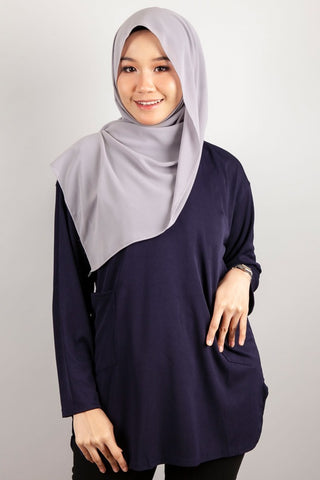 Angelina Two Poket Top in Navy Blue