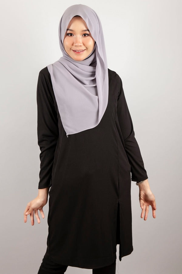Juliana Long Top in Black