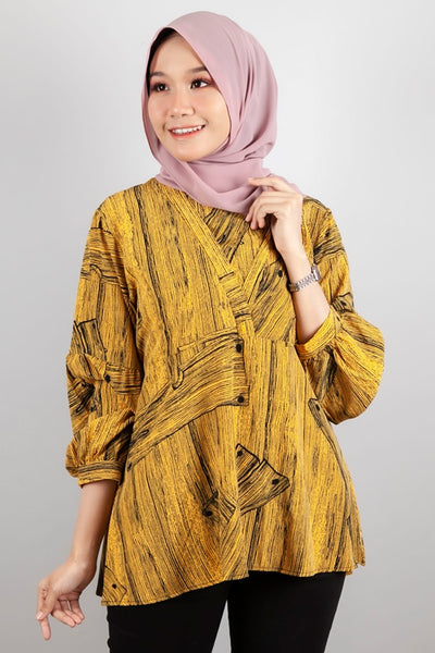 Samantha Printed Top in Yellow