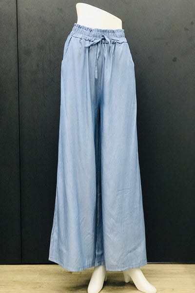 Alexa Casual Flare Pants in Blue Dusk