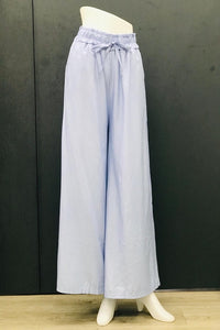 Alexa Casual Flare Pants in Light Blue