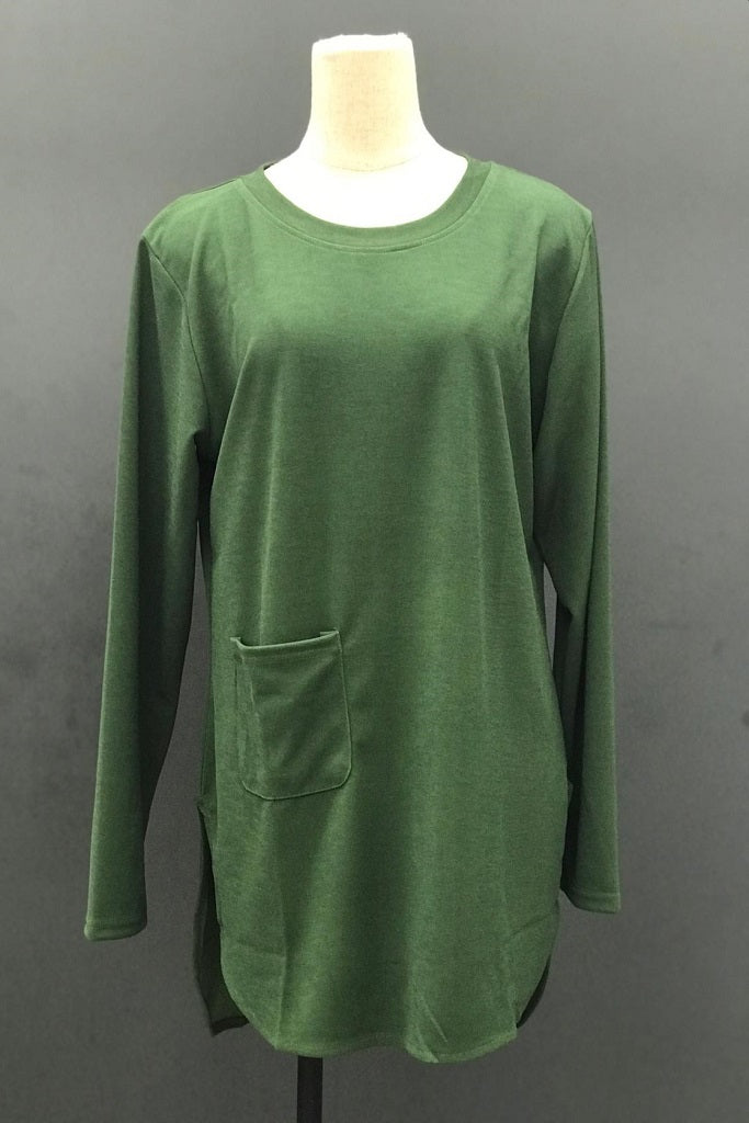 M-Series Slimming Top in Dark Green
