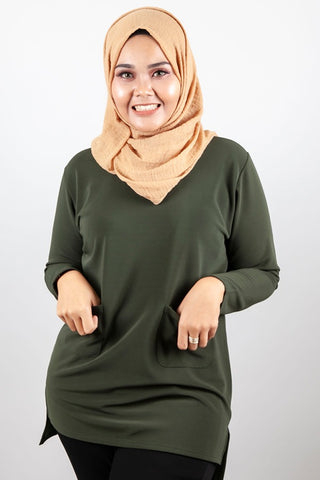 Moana Top in Army Green