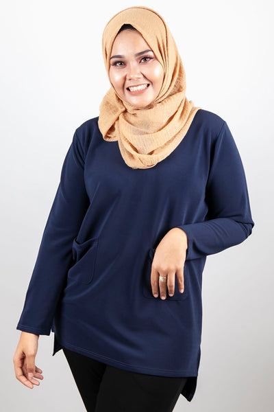 Moana Top in Navy Blue