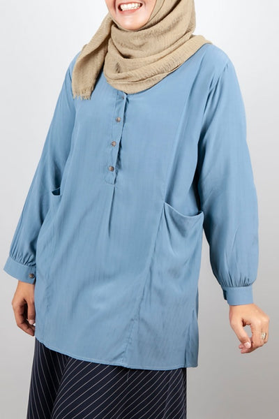 Rosemarie Top in Steel Blue