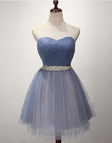 blue homecoming dress,cheap homecoming dress, tulle homecoming dress, BD3993
