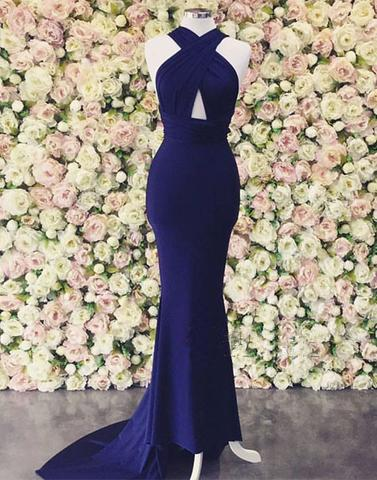 sexy formal royal blue mermaid long prom dress, PD001780