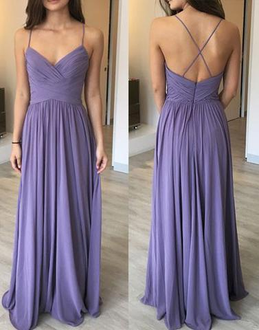 purple Bridesmaid Dresses,cheap bridesmaid dress,long bridesmaid dress,chiffon bridesmaid dress, PD52657