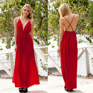 red prom dress, long prom Dress, chiffon prom dress, backless prom dress, cheap prom dress, BD465