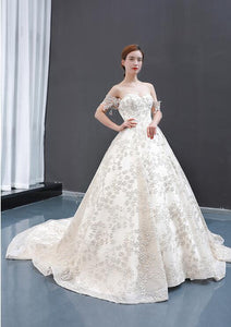 Ball Gown Cape Sleeves Sweetheart Lace Tulle Prom Dresses Evening Dresses,MD202046
