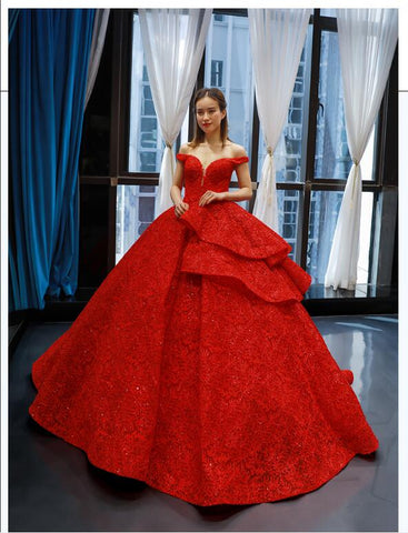 Ball Gown Cape Sleeves V Neck Lace Tulle Prom Dresses Evening Dresses,MD202064