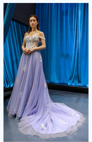 A Line Cape Sleeves Sweetheart Lace Tulle Prom Dresses Evening Dresses,MD202065