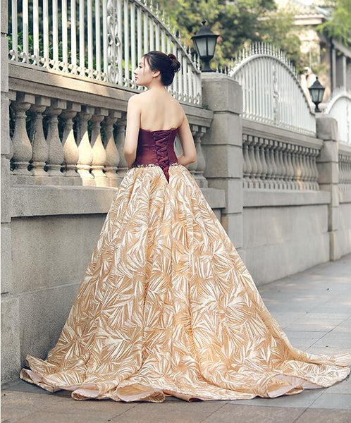 Ball Gown Sleeveless Sweetheart Lace Satin Prom Dresses Evening Dresses,MD202080