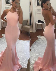 pink prom dress, long evening dress, backless prom dress, mermaid prom dress, cheap evening dress, BD26353