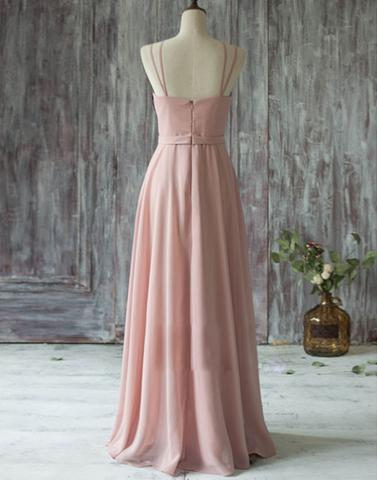 dusty pink Bridesmaid Dresses,cheap bridesmaid dress,long bridesmaid dress,new bridesmaid dress, PD52659