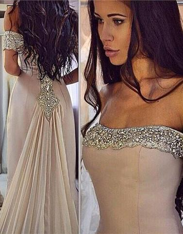 long off shoulder strapless prom dress with train, BD12642
