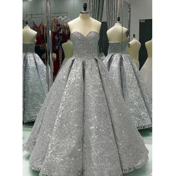 strapless sequins wedding dress sweetheart ball bridal gowns beading prom dress,HS078