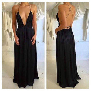 black prom dress, long prom Dress, cheap evening dress,sexy evening dress, BD394