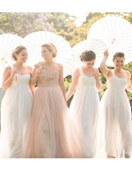 Romantic bridesmaid dress,One shoulder bridesmaid dress,Simple bridesmaid dress ,Floor-length Bridesmaid dress ,PD87