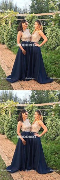 Beaded Long Bridesmaid Dresses Satin Bridesmaid Dresses A-Line Bridesmaid Dresses