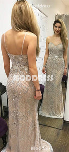 Beading Crystal Long Prom Dresses Sweetheart Mermaid Evening Formal Dresses